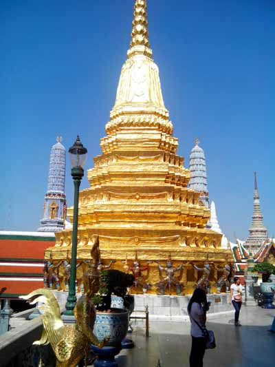 Magnificent Golden Stupa at Wat Phra Kaeo