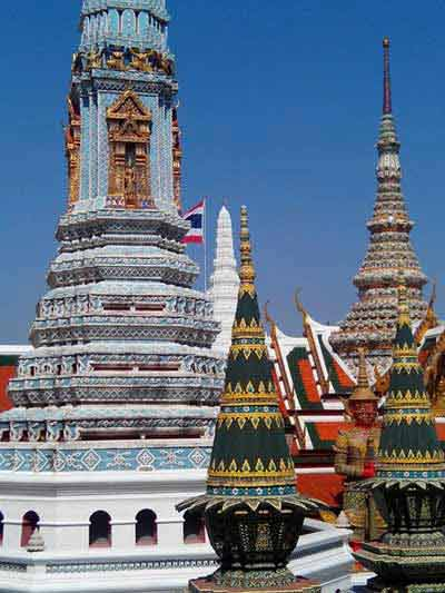 Ornate roofs at Wat Phra Kaeo