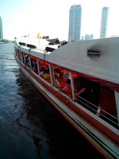 The river boat on Chao Phraya river