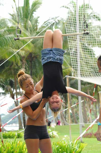 Trying Out The Trapeze