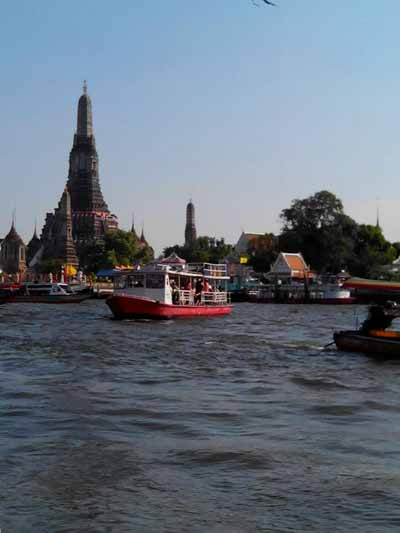 View from the boat of Chao Phraya river