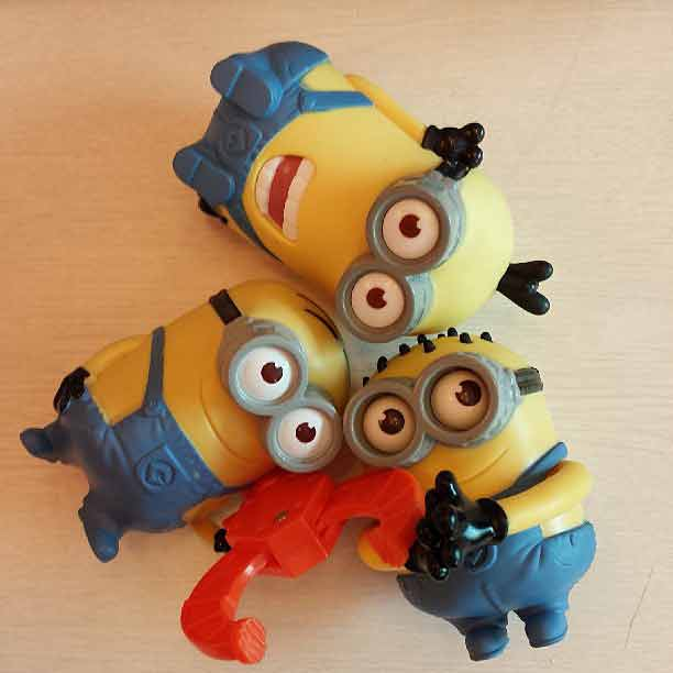 Despicable Me 2 minions from Happy Meals