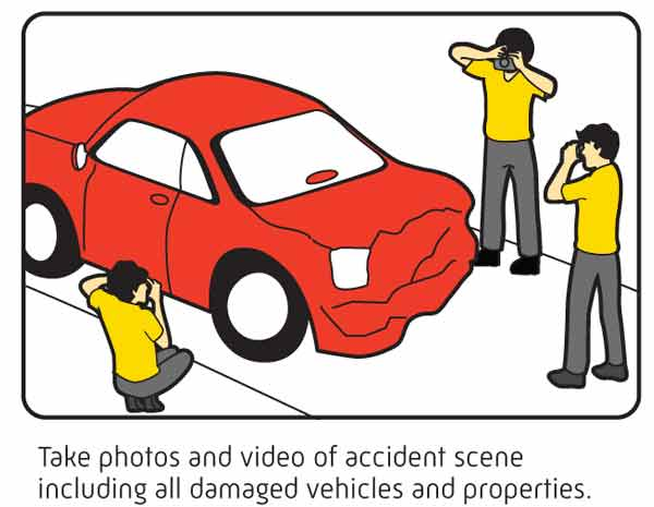 take photo or video evidence of accident