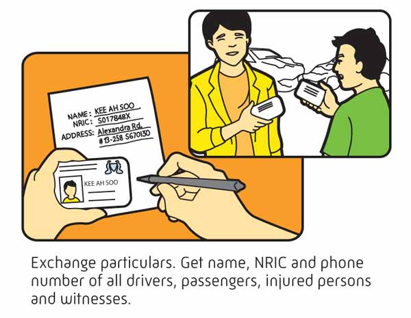 exchange particulars in event of accidents
