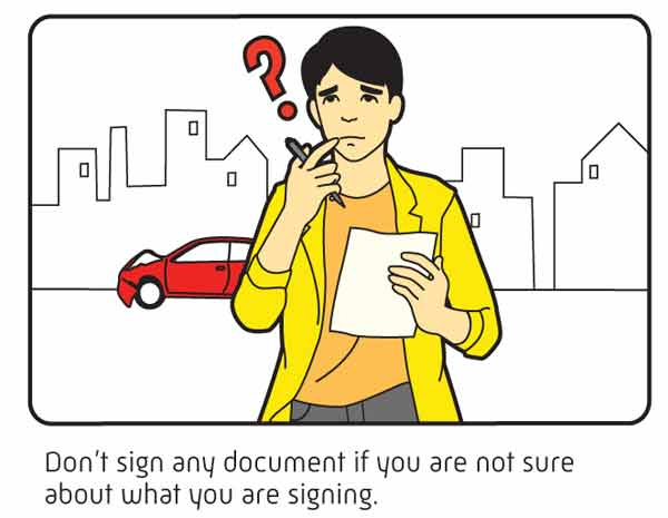 don't sign any documents if unsure