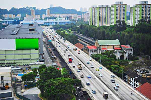 traffic on Singapore expressway