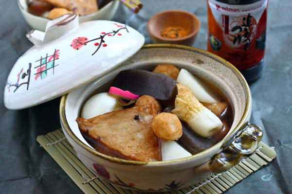 "Oden is a favorite Japanese stew or ""hot pot"" made with dashi ..."