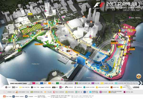 singaporegrandprix 2013 map