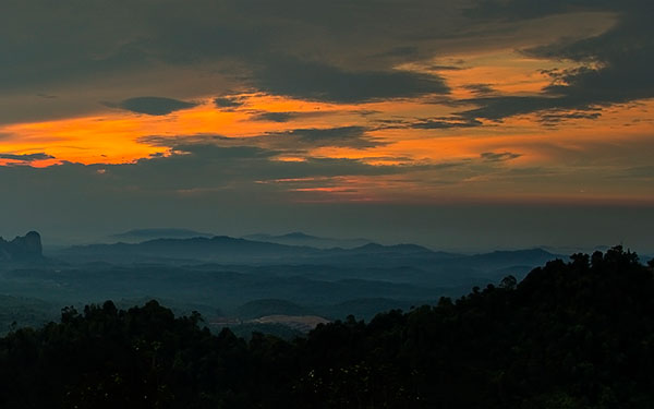 bukit panorama sunrise