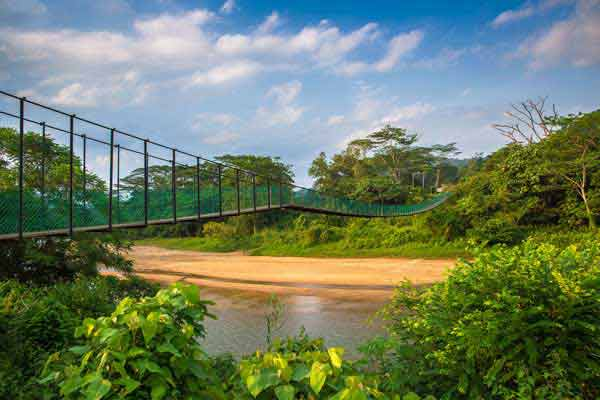 hanging bridge sungei lembing