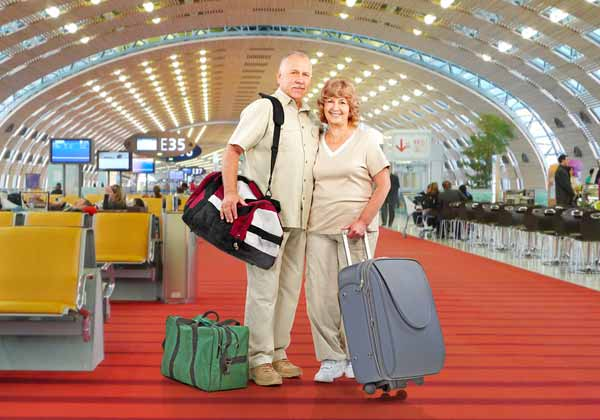 Senior Couple Travelling