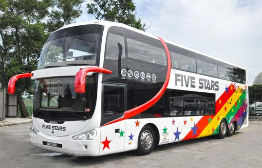 five stars coach bus