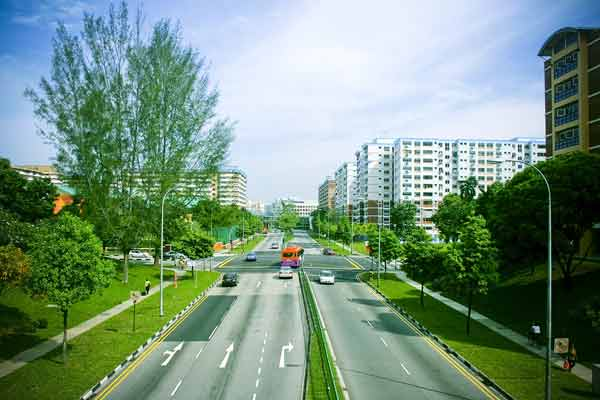 Singapore road - great for cycling