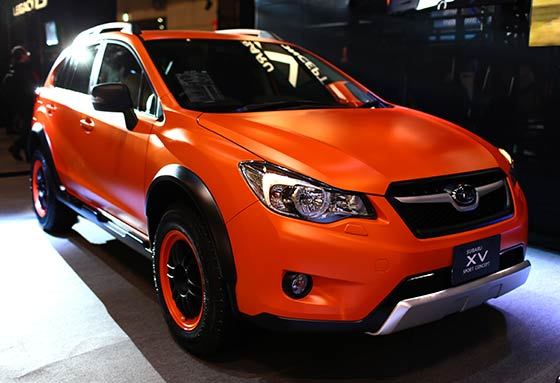 Orange Modified Car at Singapore Car Show
