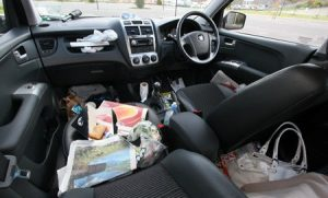 Rubbish in Car