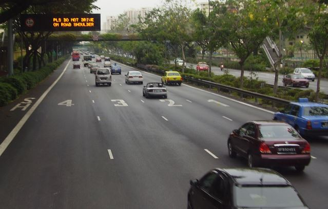 Cars on Singapore Road