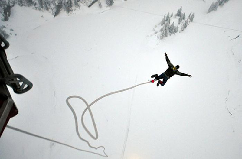 Glacier Bungee Jumping