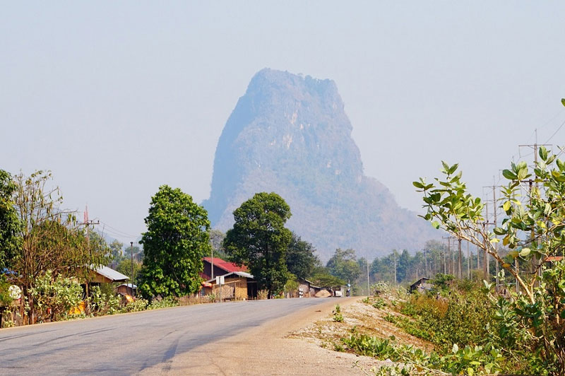 sleepy towns and rock formations in Central Laos